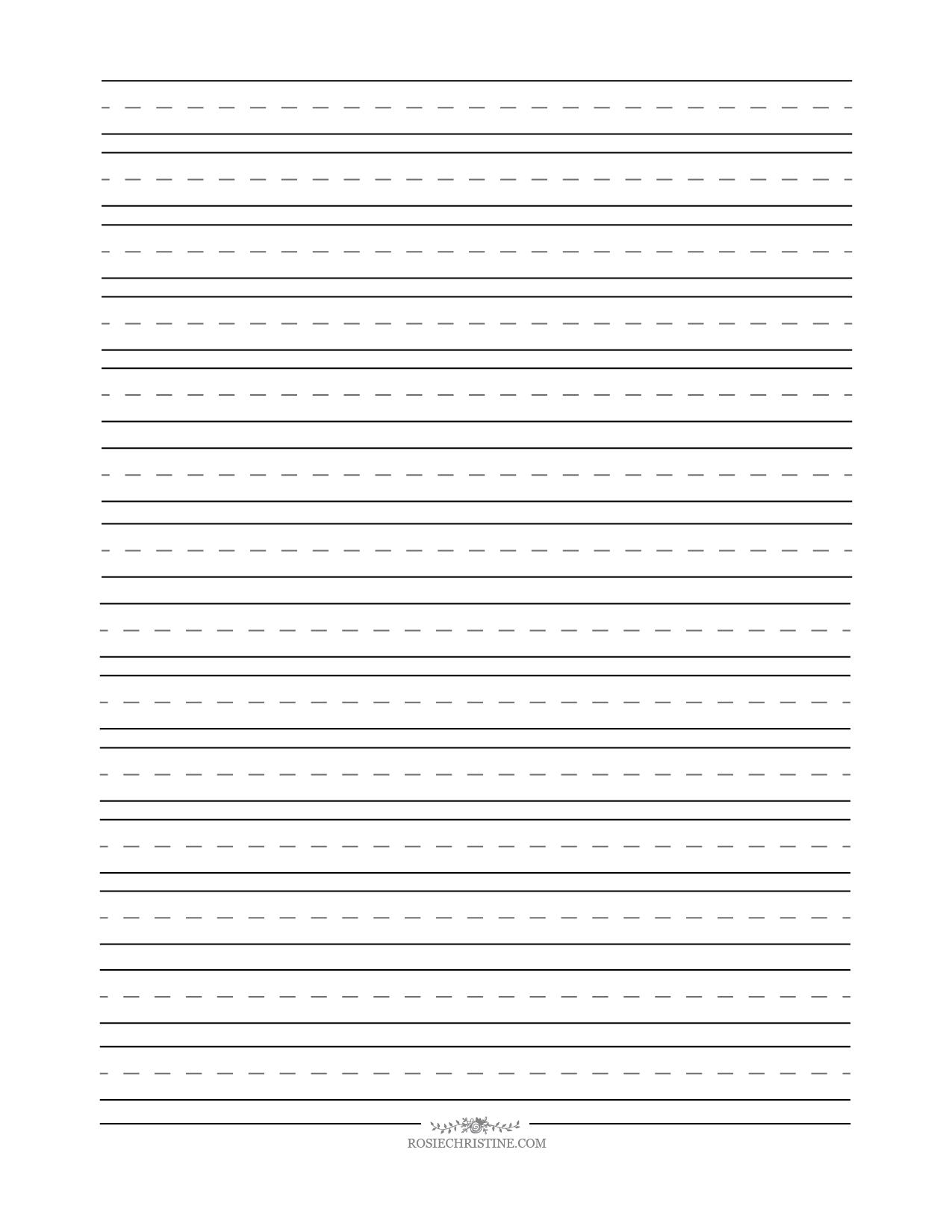 cursive blank worksheets rosie christine. Black Bedroom Furniture Sets. Home Design Ideas